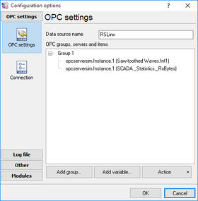 OPC Settings (Groups)