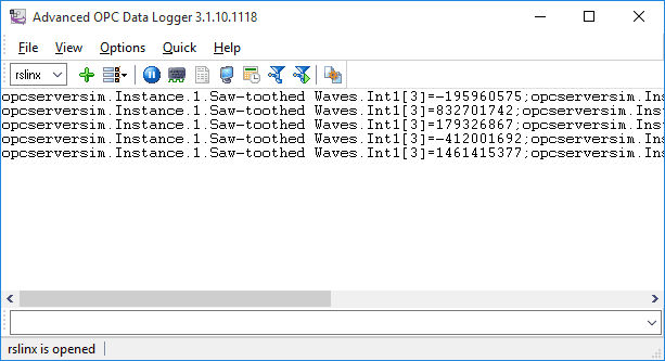 Advanced OPC Data Logger Screen shot
