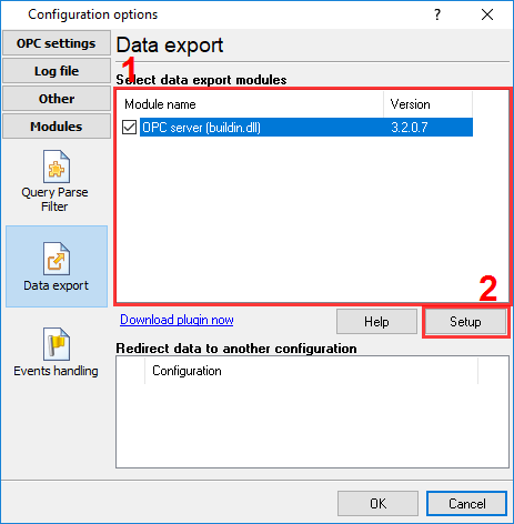 The data export module