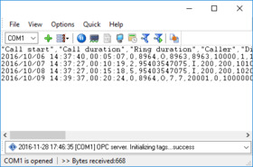 Advanced PBX Data Logger screen shot