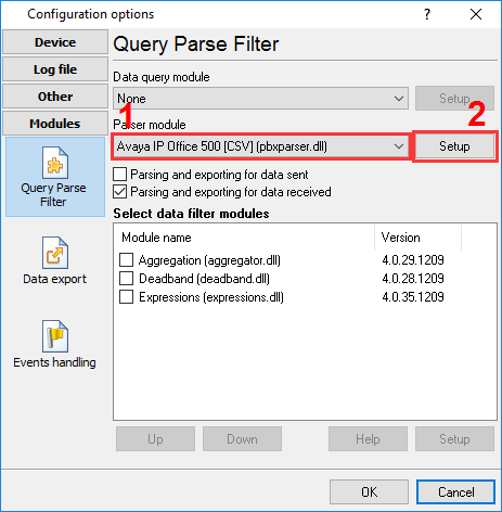 How to configure logging to the database using the SQL