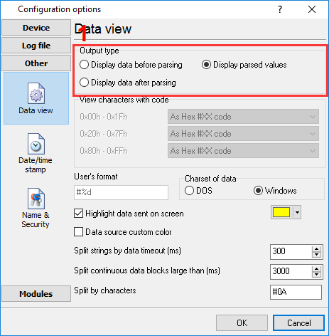 Data view mode