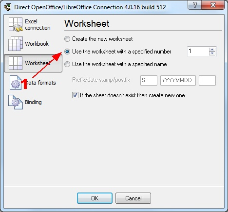 Exporting real-time data and charting in OpenOffice or