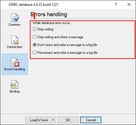Export to MS Access. ODBC database data logger. Error handling