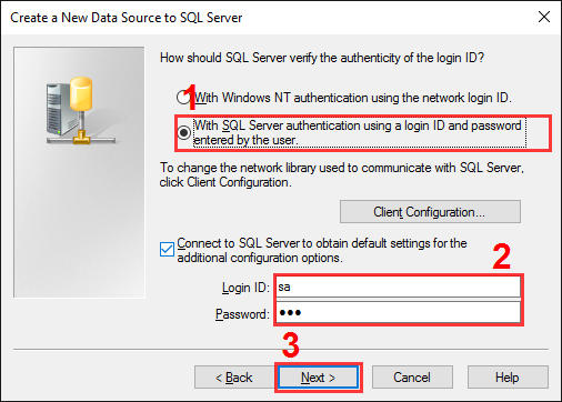 The SQL Server alias setup. Step #3