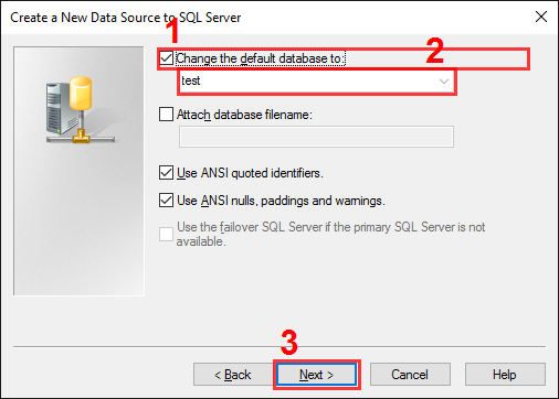 The SQL Server alias setup. Step #4.