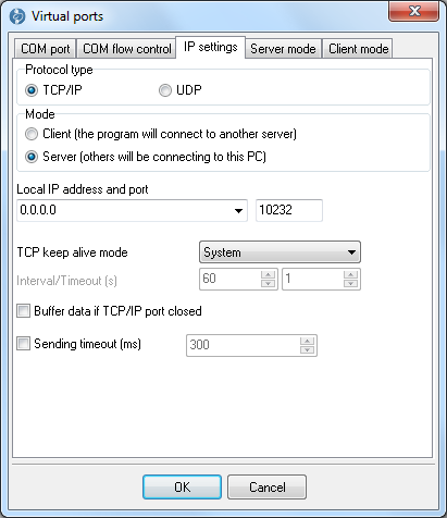 TCP COM Bridge | Screenshots