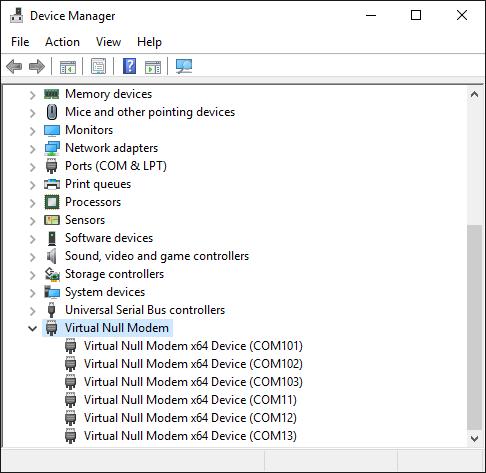 Virtual Null Modem | Screenshots